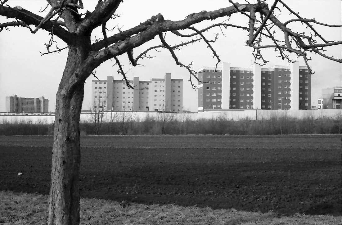 Stuttgart, Degerloch: B 27 mit Hochhäusern, Bild 1