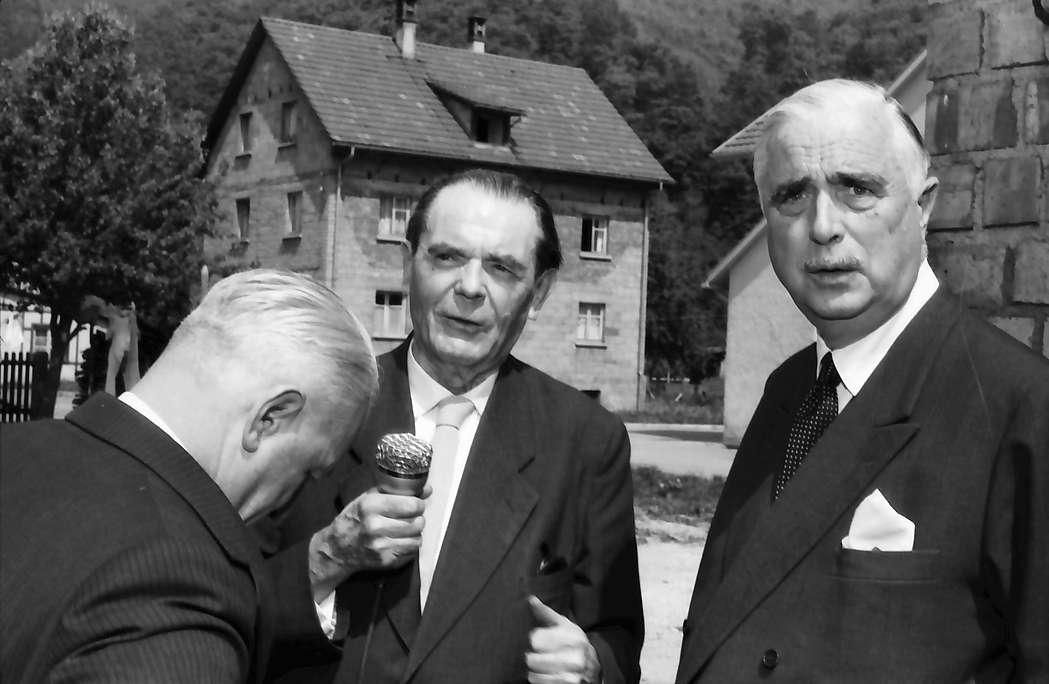 Hausen im Wiesental: Kultusminister Storz, O. E. Sutter, Carl Burckhardt, Bild 1