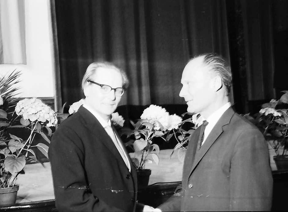 Hausen im Wiesental: Hebelpreisträger Dr. Eberhard Meckel, Oberbürgermeister Freiburg Dr. Keidel, Bild 1