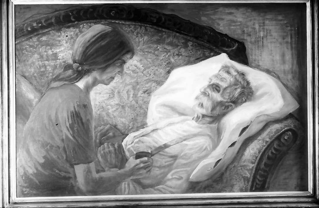 Bernau: Gemälde, Otto Dix, Sterbender Bauer 1941, Bild 1