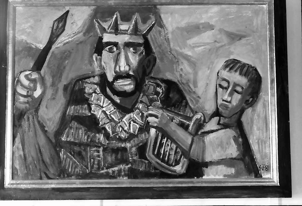 Bernau: Gemälde, Otto Dix, Saul und David 1958, Bild 1
