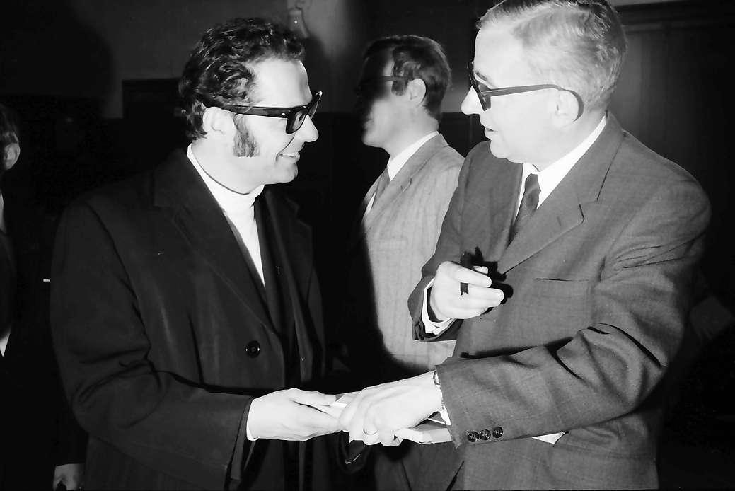 Hausen: Kurt Marti, Hebelpreisträger 1972, Bern und Pfarrer Kindler, Säckingen, Bild 1