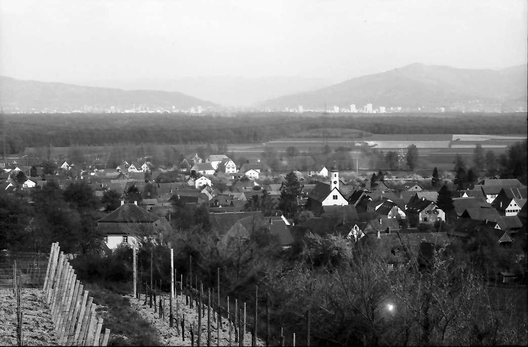 Freiburg, Waltershofen: Vom Wasserschloss auf den Ort und Freiburg, Bild 1