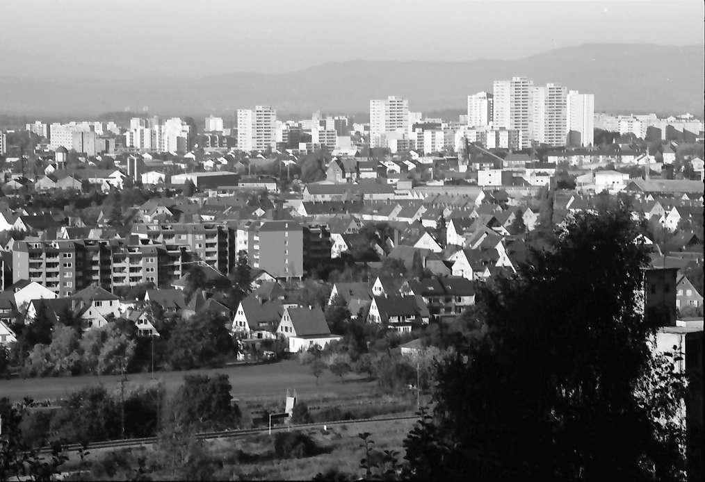Freiburg, St. Georgen: Vom Rebberg (Grundweg) auf Uffhausen und Weingarten, Bild 1