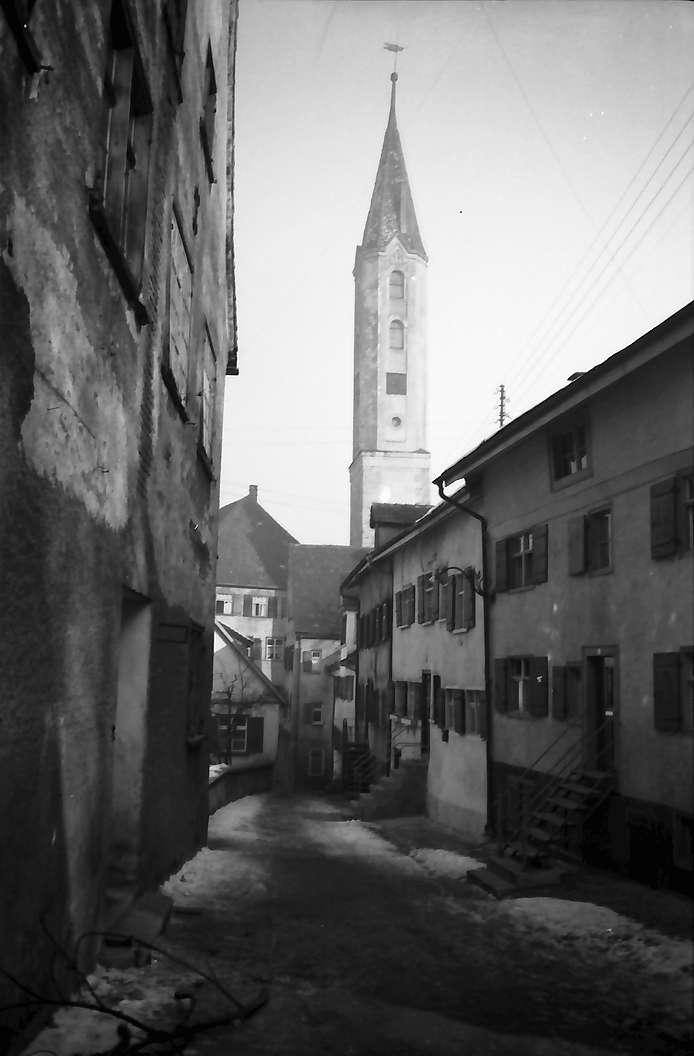 Leutkirch: Schneegasse mit Bockturm, Bild 1