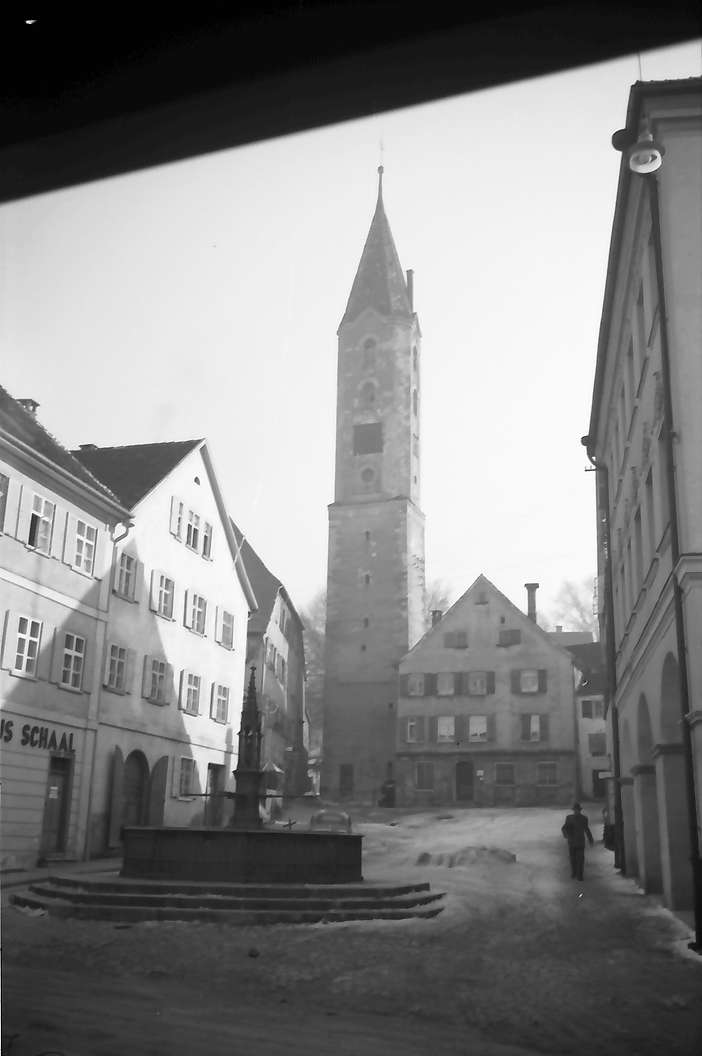 Leutkirch: Marktplatz mit Bockturm, Bild 1
