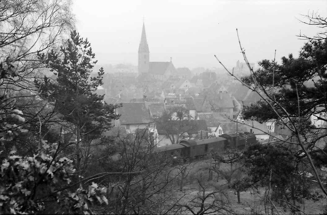 Saulgau: Blick vom Denkmal auf die Stadt, Bild 1