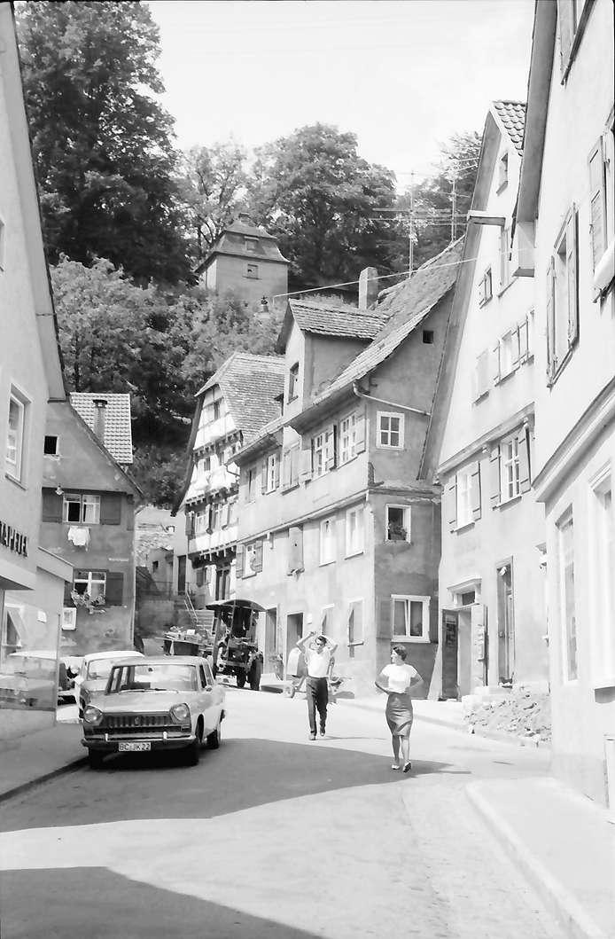 Biberach: Weberberggasse und Stadtmauer, Bild 1