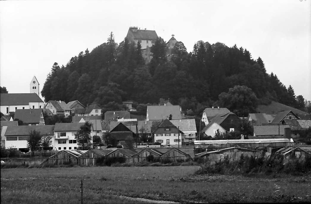 Waldburg: Die Waldburg vom Ort aus, Bild 1
