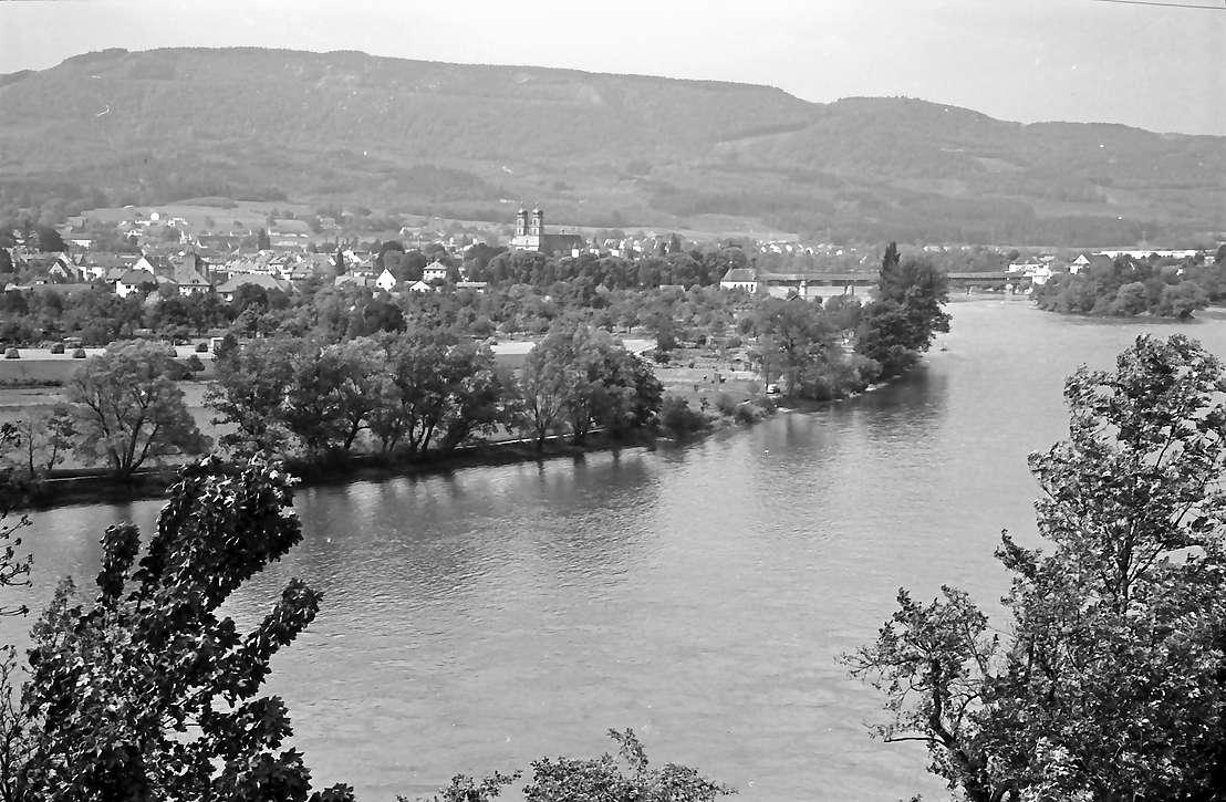 Bad Säckingen: Blick von der Straße bei Stein auf Bad Säckingen, Bild 1
