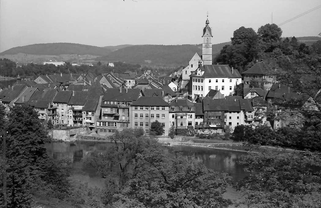 Laufenburg: Blick von der Straße auf die Stadt, Bild 1
