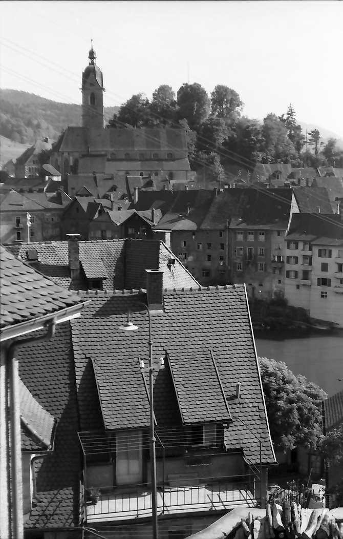 Laufenburg: Blick von oben auf die Stadtteile, Bild 1