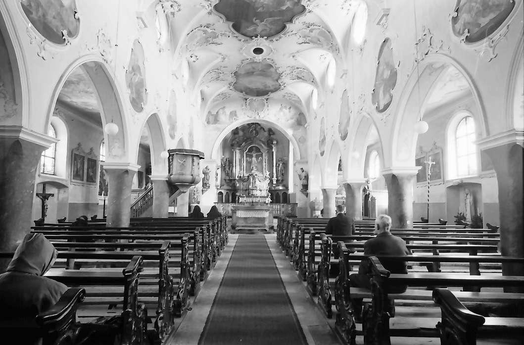 Hochsal: Alte Hotzenkirche, Innenansicht, Bild 1