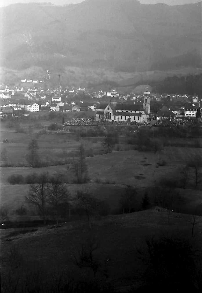 Wehr: Blick von westlicher Höhe auf die Stadt, Gesamtansicht, Bild 1