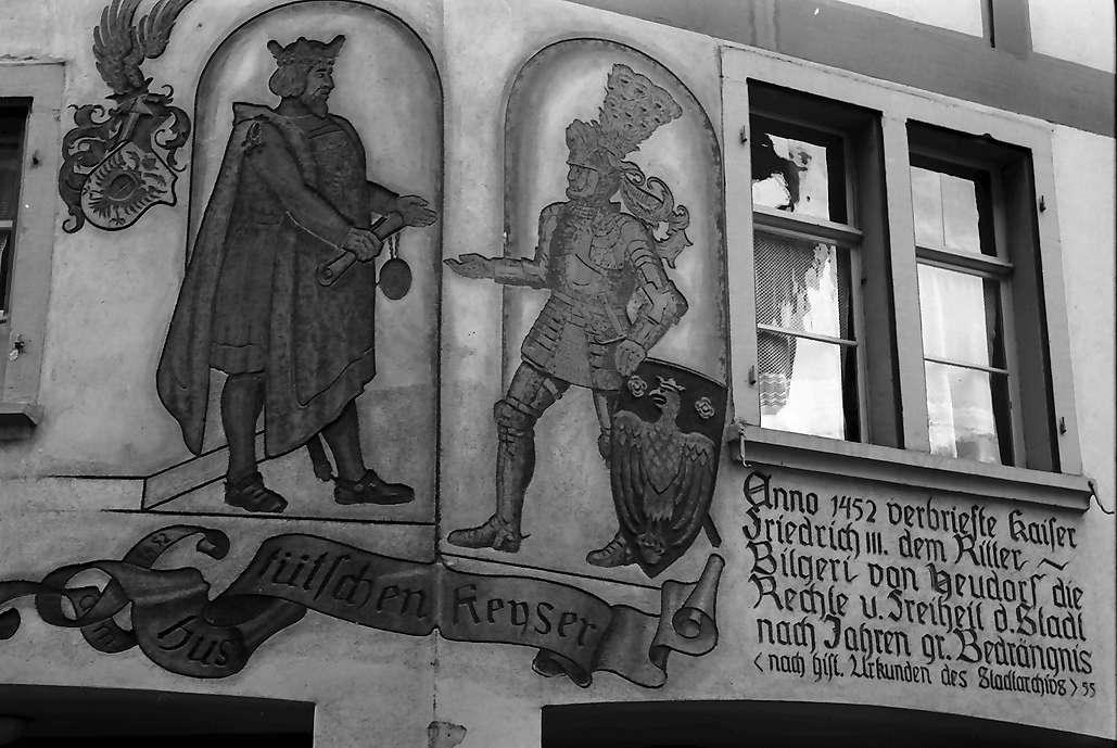 Tiengen: Fresko über Verleihung des Stadtrechts, Bild 1