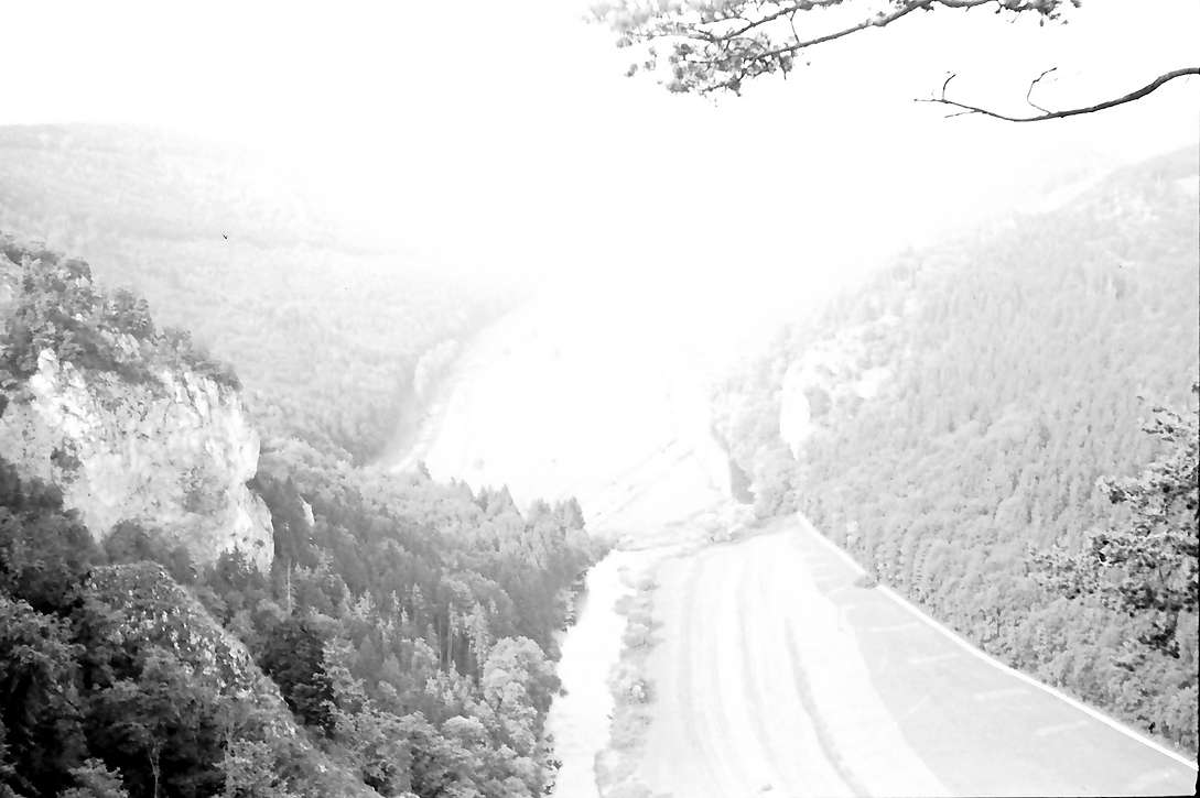 Beuron: Blick von oben ins Donautal bei Beuron, Bild 1