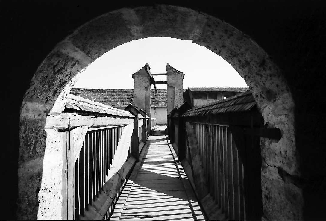 Wildenstein: Zugbrücke [Burg] Wildenstein durch Rundbogen, Bild 1