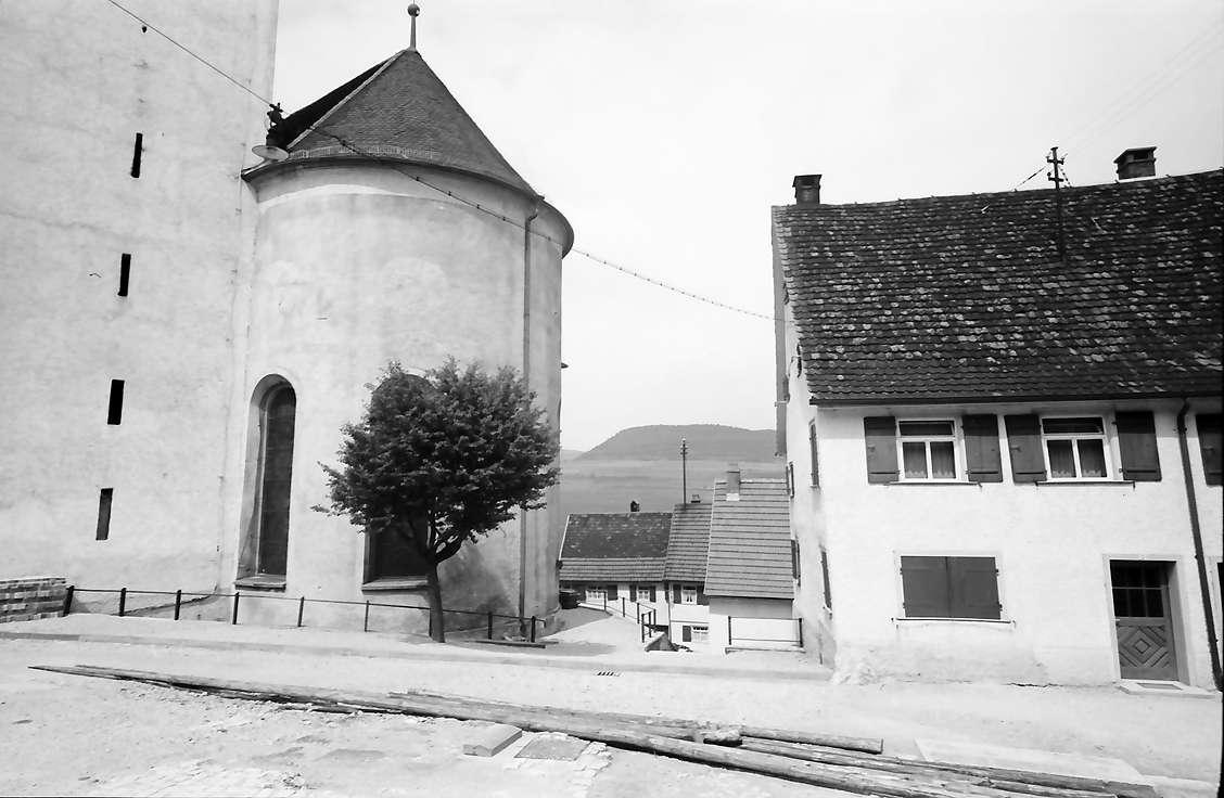 Mühlheim (Donau): Kirchenchor und Häuser, Bild 1