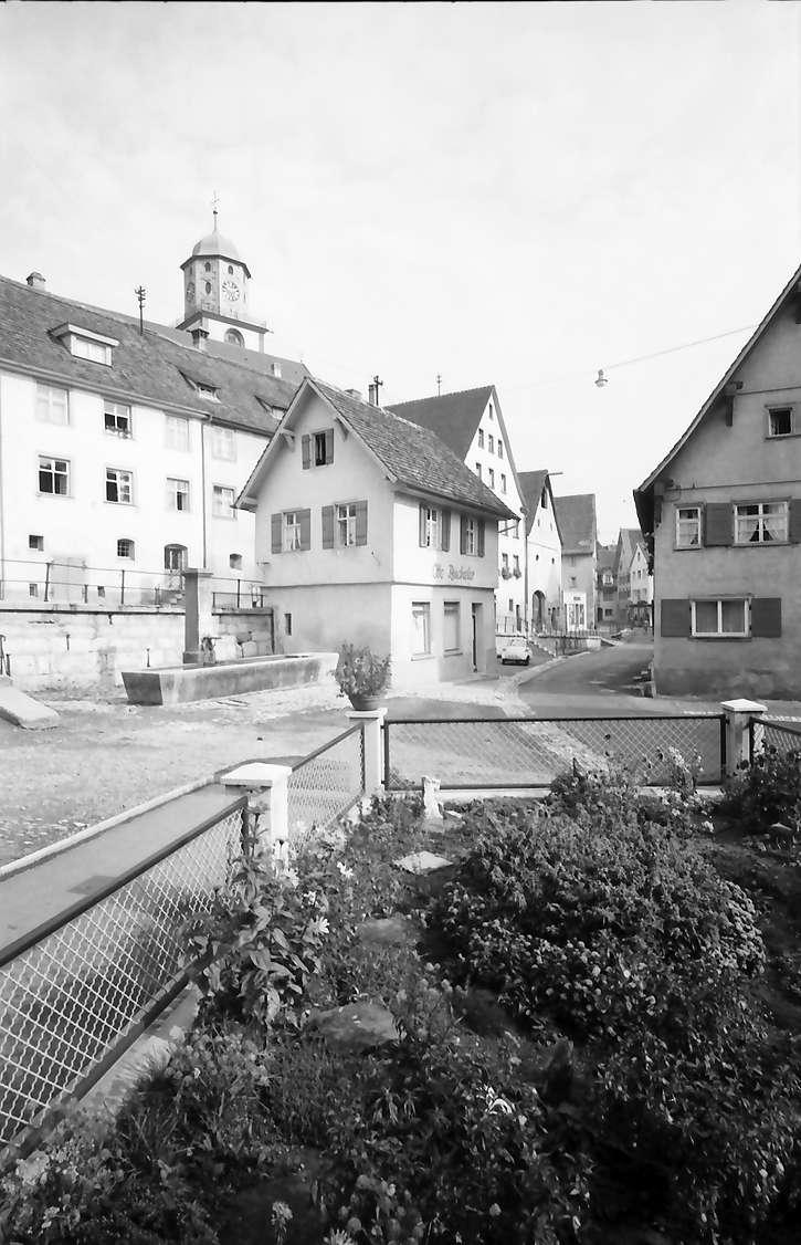 Meßkirch: Altstadtgasse, Vordergrund Garten, Bild 1