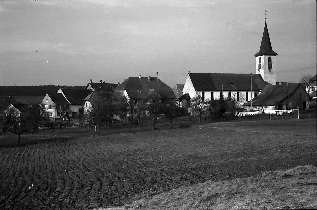 Birkendorf: Ortsansicht von Westen, Bild 1