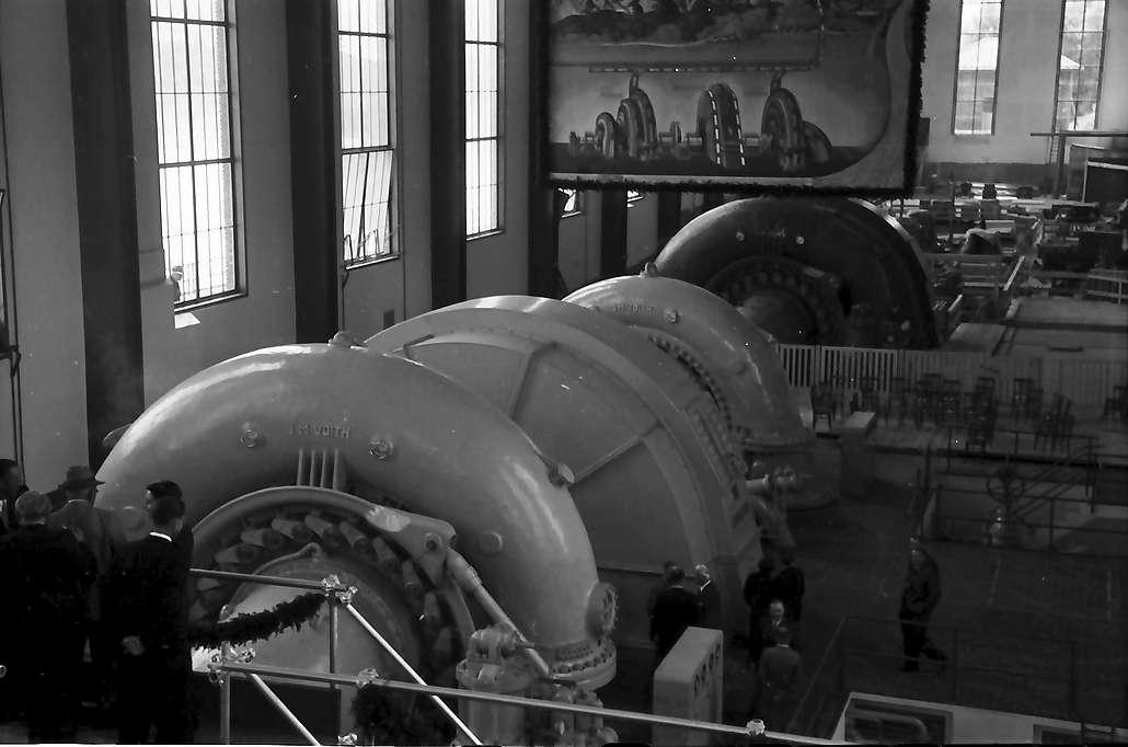 Waldshut: Inbetriebnahme des Kraftwerks Waldshut; Turbinen, Bild 1