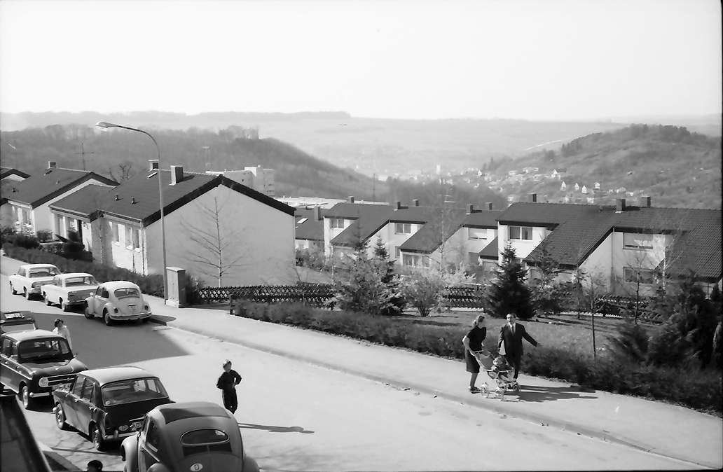 Lörrach, Salzert: Röttelnblickstraße mit Blick auf Lörrach, Bild 1