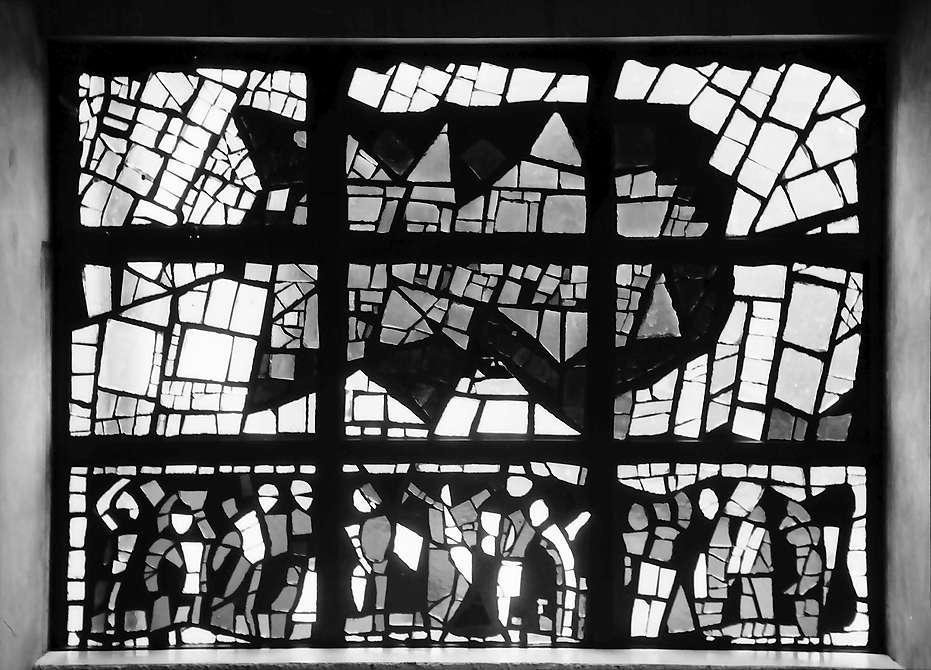 Lörrach, Stetten: Glasfenster in der Kirche, Bild 1