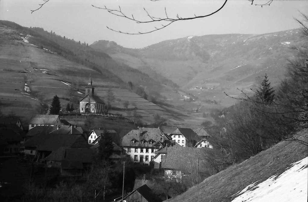 Neuenweg: Blick vom Südhang auf Neuenweg, Bild 1
