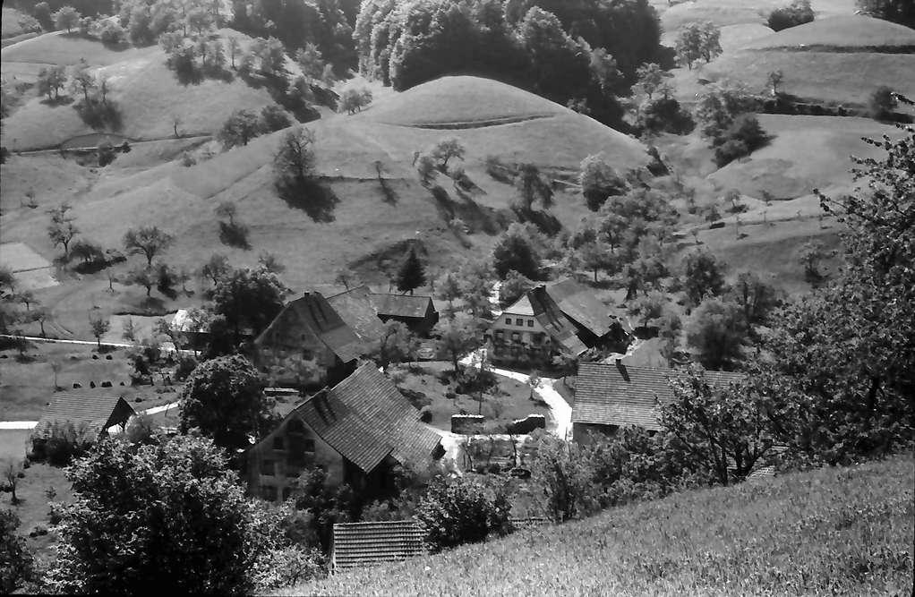 Endenburg: Landschaft, Talblick von oben, Bild 1