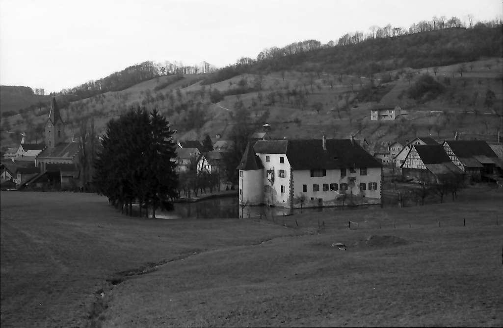 Inzlingen: Wasserschloss, weiter weg, von Osten, Bild 1