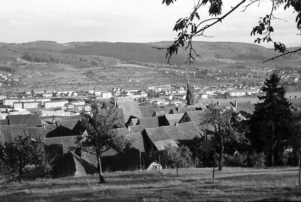 Lörrach, Tüllingen: Über die Dächer von Tüllingen auf Stetten, Bild 1