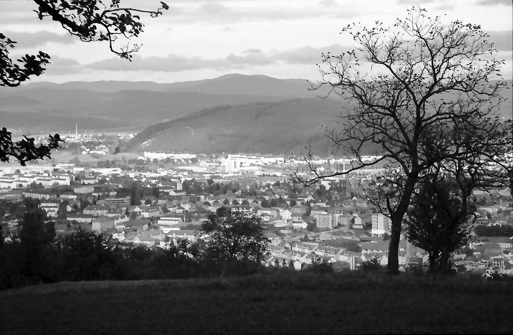 Lörrach, Tüllingen: Stadt von Tüllinger Höhe, Bild 1