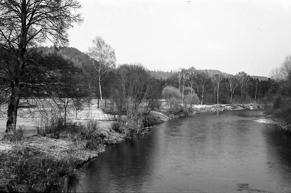Gießen: Argen Fluss von der Brücke bei Gießen, Bild 1