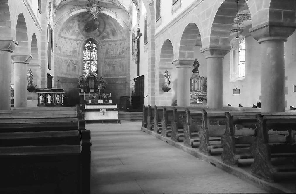 Unterzell: Inneres der Kirche, Bild 1