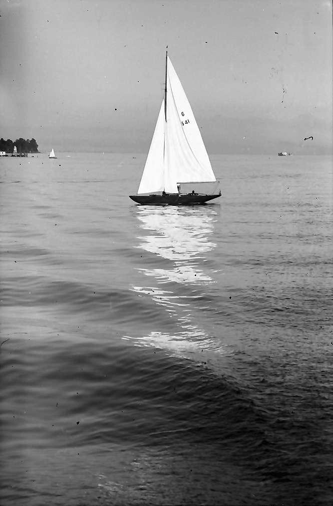 Hagnau: Segelschiff bei Hagnau, Bild 1