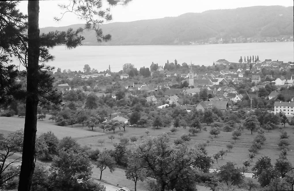Ludwigshafen: Blick von der Höhe auf Ort und See, Bild 1