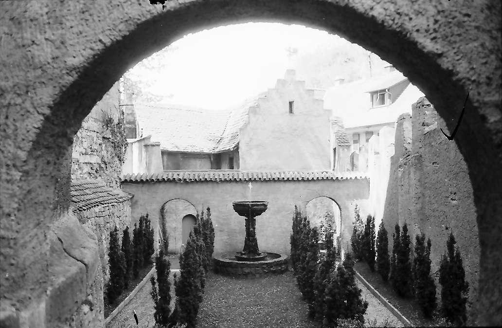 Meersburg: Garten an der Schlossmauer, Bild 1