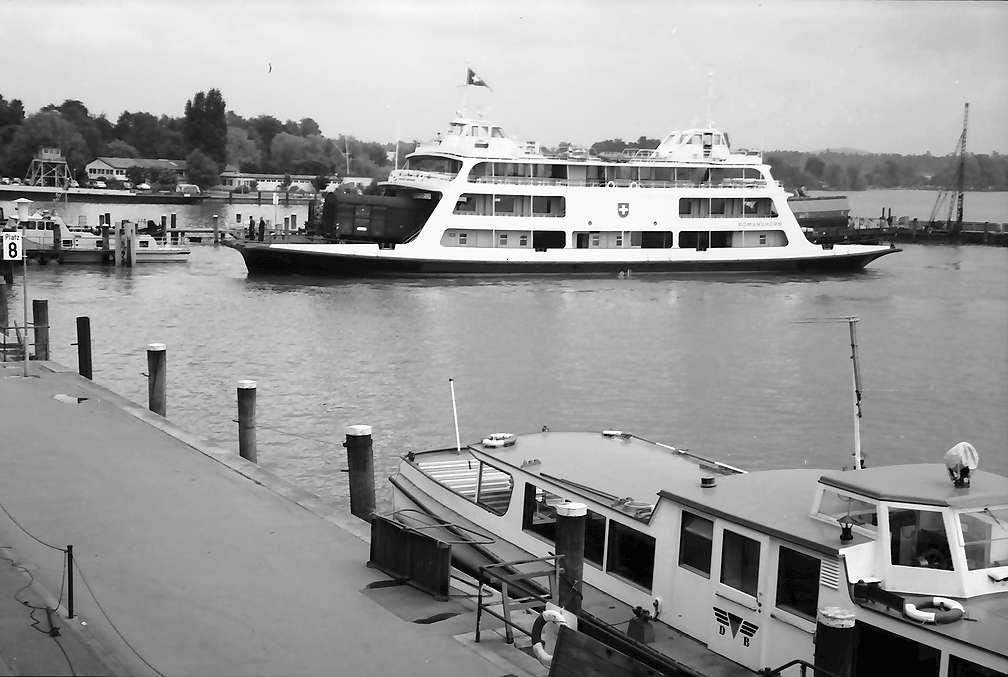 """Friedrichshafen: Neues Fährschiff """"Romanshorn"""" im Hafen, Bild 1"""