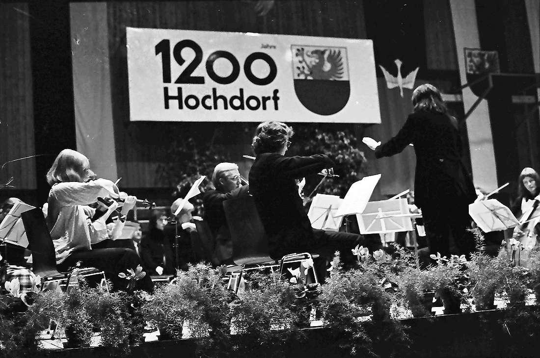 Hochdorf: Mooswaldhalle; Festakt; Akademisches Orchester, Bild 1