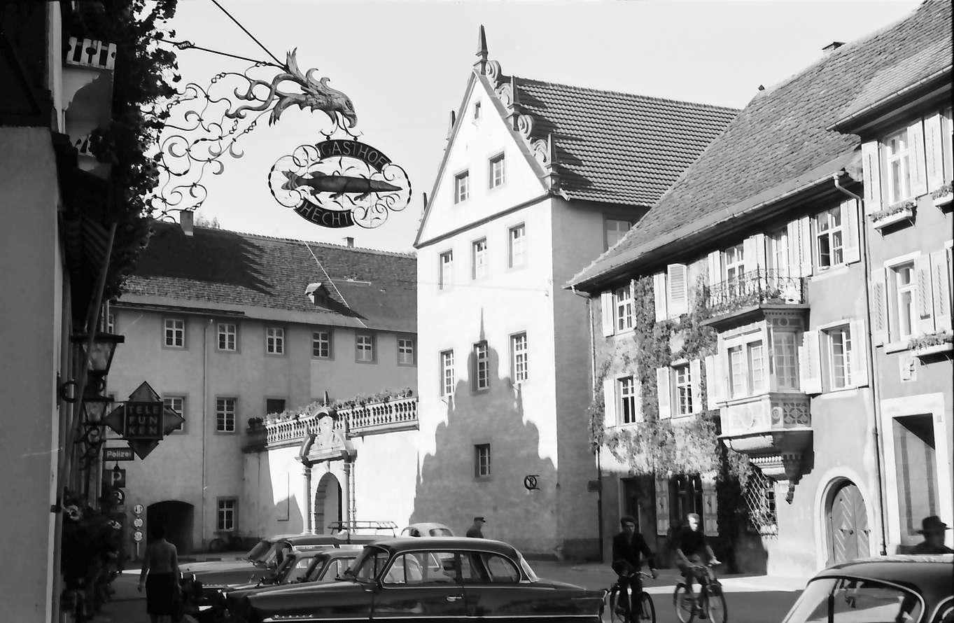 Wolfach: Schloss, Vordergrund Aushängeschild, Bild 1