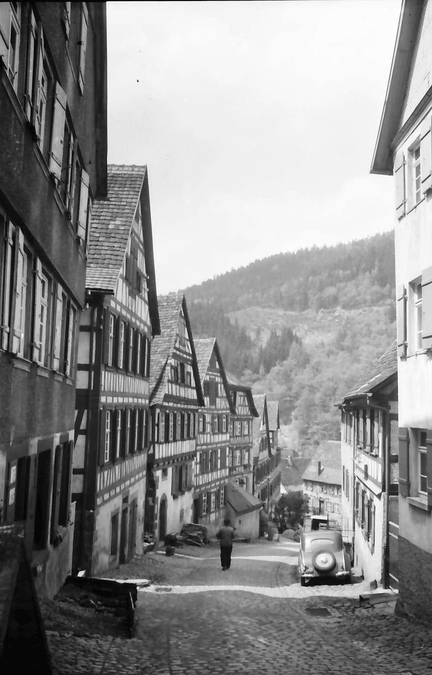 Schiltach: Gasse zum Marktplatz, von oben, Bild 1