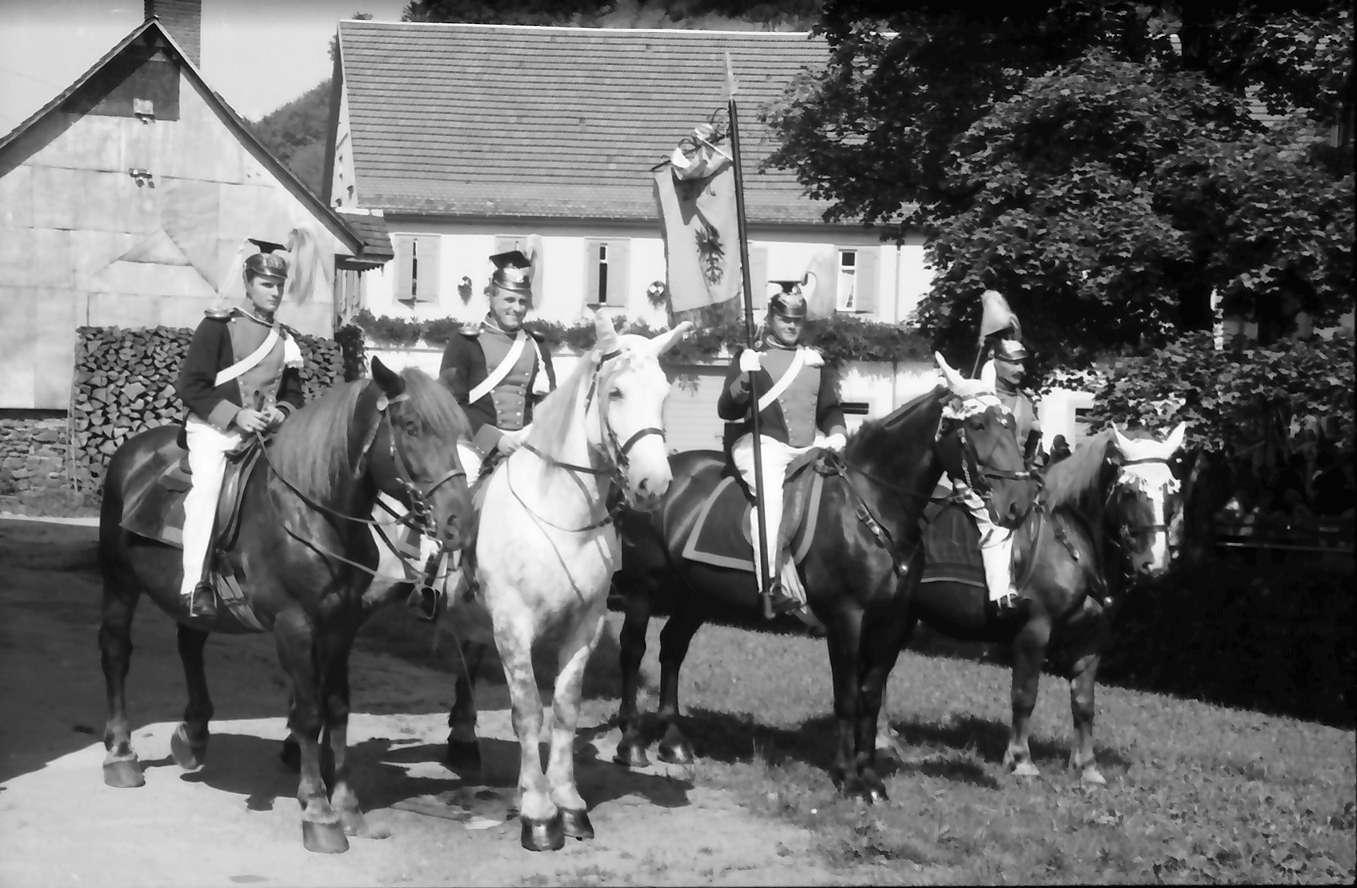 Oberharmersbach: Appell der Badischen Bürgerwehren; Harmersbacher Ulanen, Bild 1