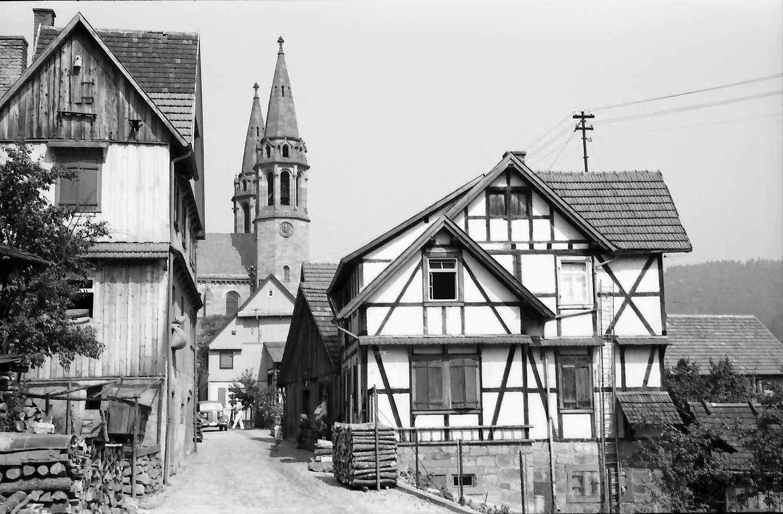 Forbach: Fachwerkhaus und Kirche, Bild 1