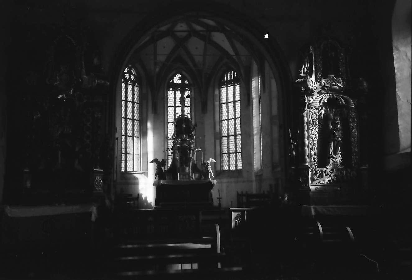 Hausach: Hausach Dorf; Kirche, Chor innen, Bild 1