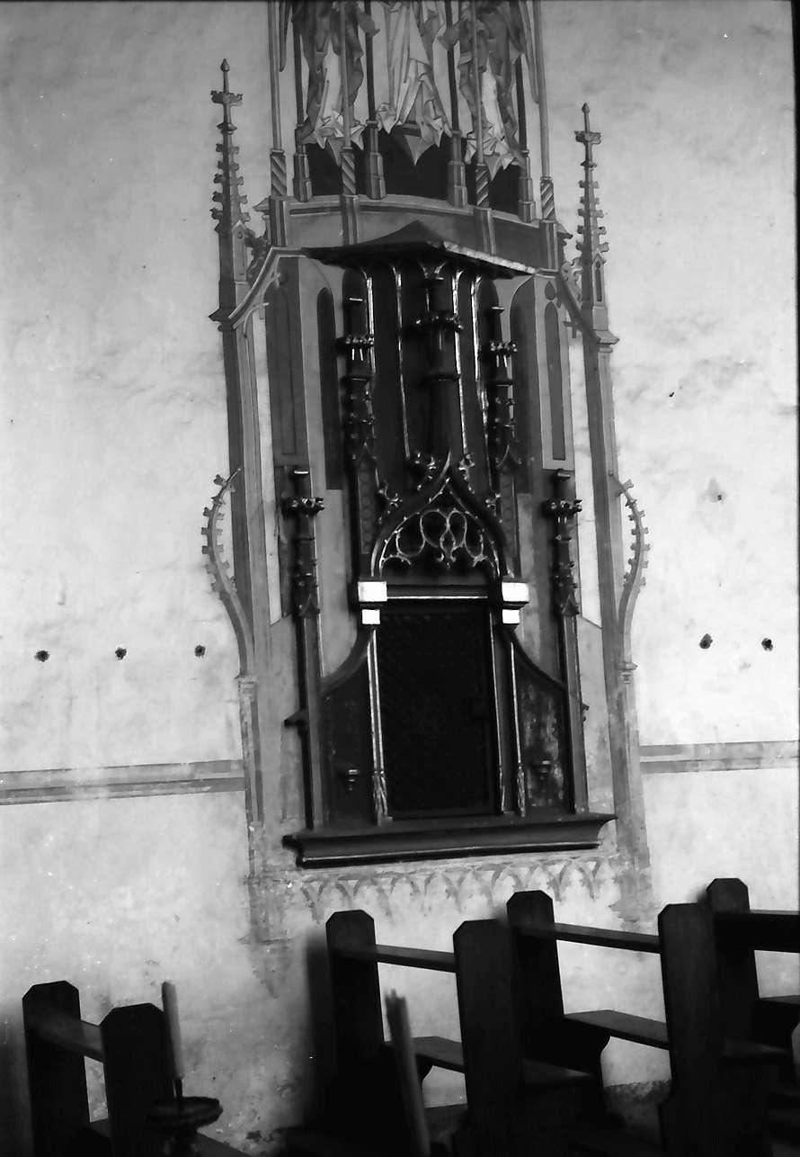 Hausach: Hausach Dorf; Kirche, Sakramentshäuschen, Bild 1