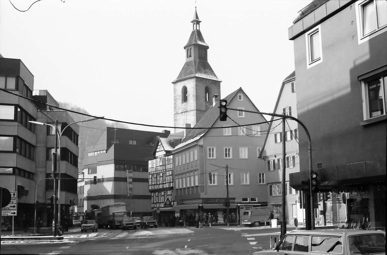 Nagold: Straße mit Remigiuskirche, Bild 1