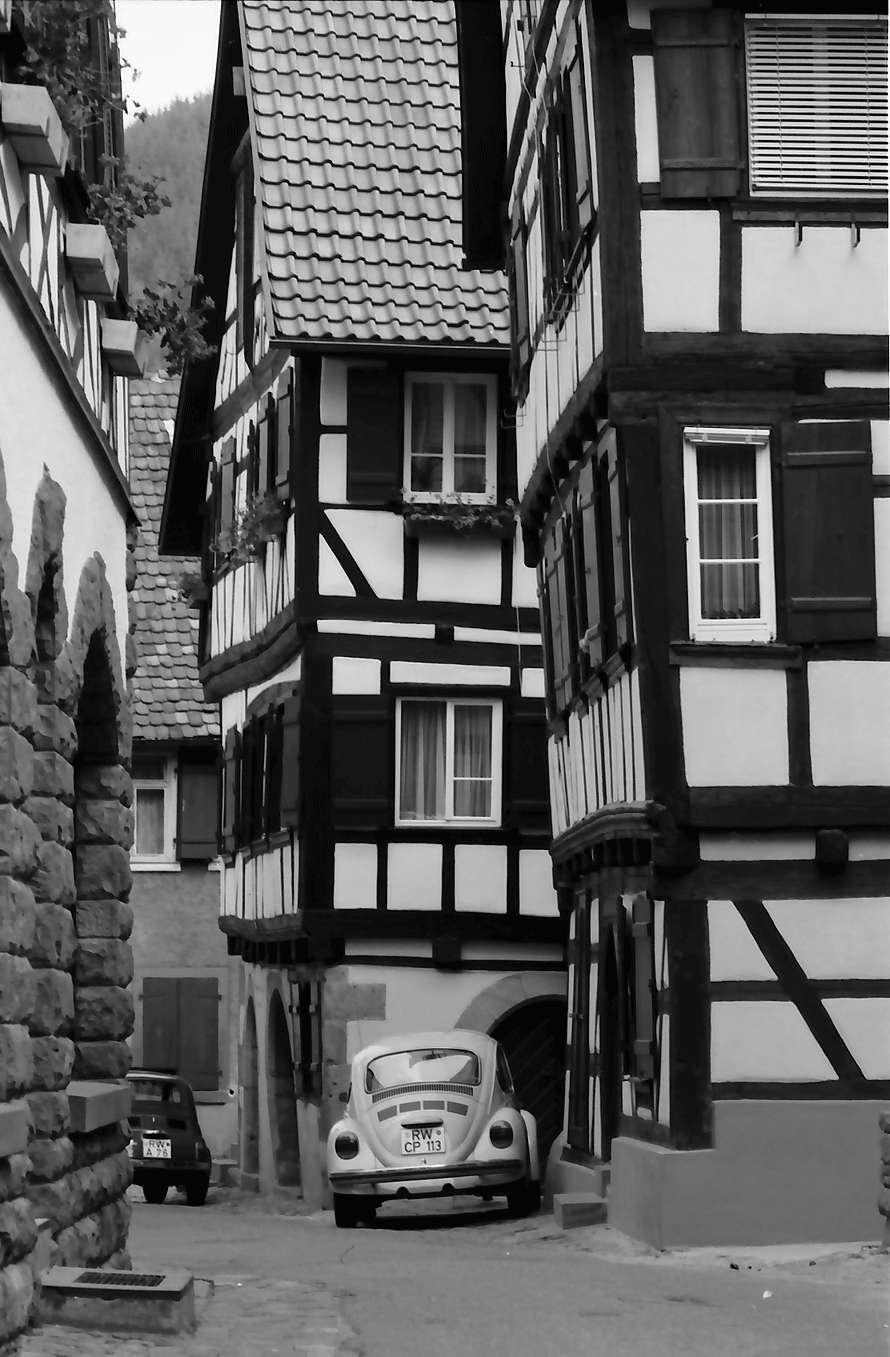 Schiltach: Gasse mit Fachwerkhäusern, Bild 1