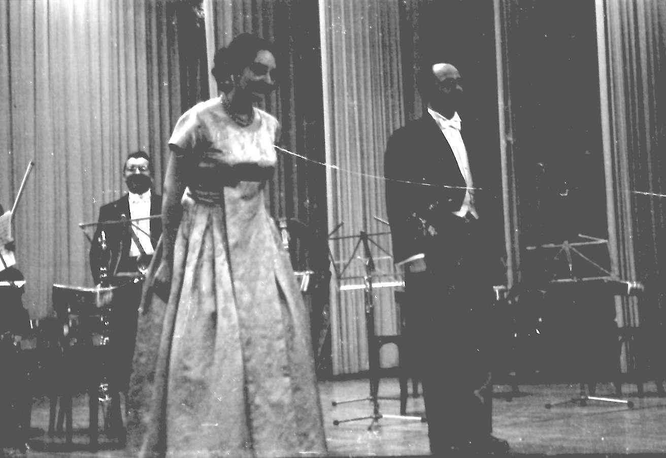 Donaueschingen: Donaueschinger Musiktage; Eva Maria Rogner und Pierre Boulez, Bild 1