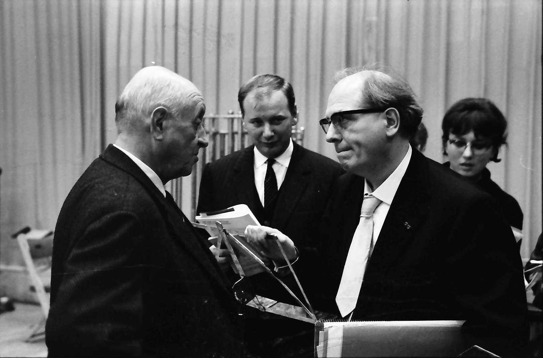 Donaueschingen: Donaueschinger Musiktage; Prof. Heinrich Strobel, Oliver Messiaen, Bild 1