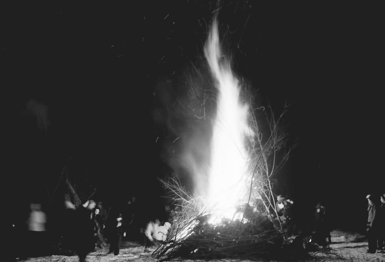 Müllheim: Scheibenschlagen; hochflammender Haufen, Bild 1